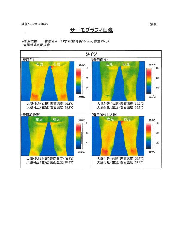 ユニチカガーメンテック キュアヘルツ サーモグラフィ-4