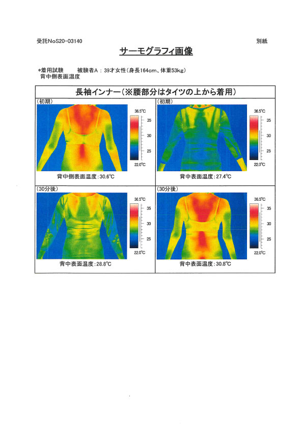 ユニチカガーメンテック キュアヘルツ サーモグラフィ-5